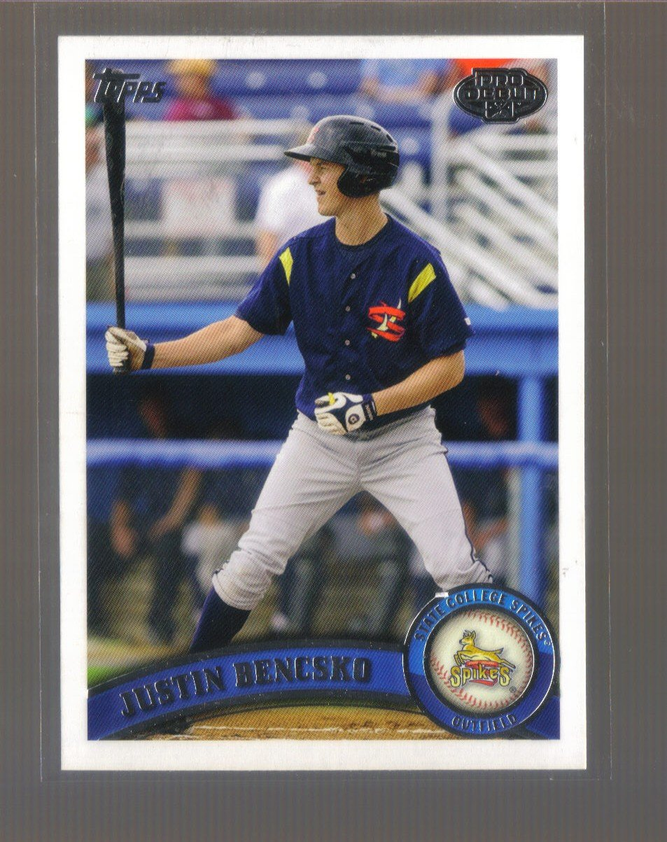2011 Topps Pro Debut  #10  JUSTIN BENCSKO   Pirates