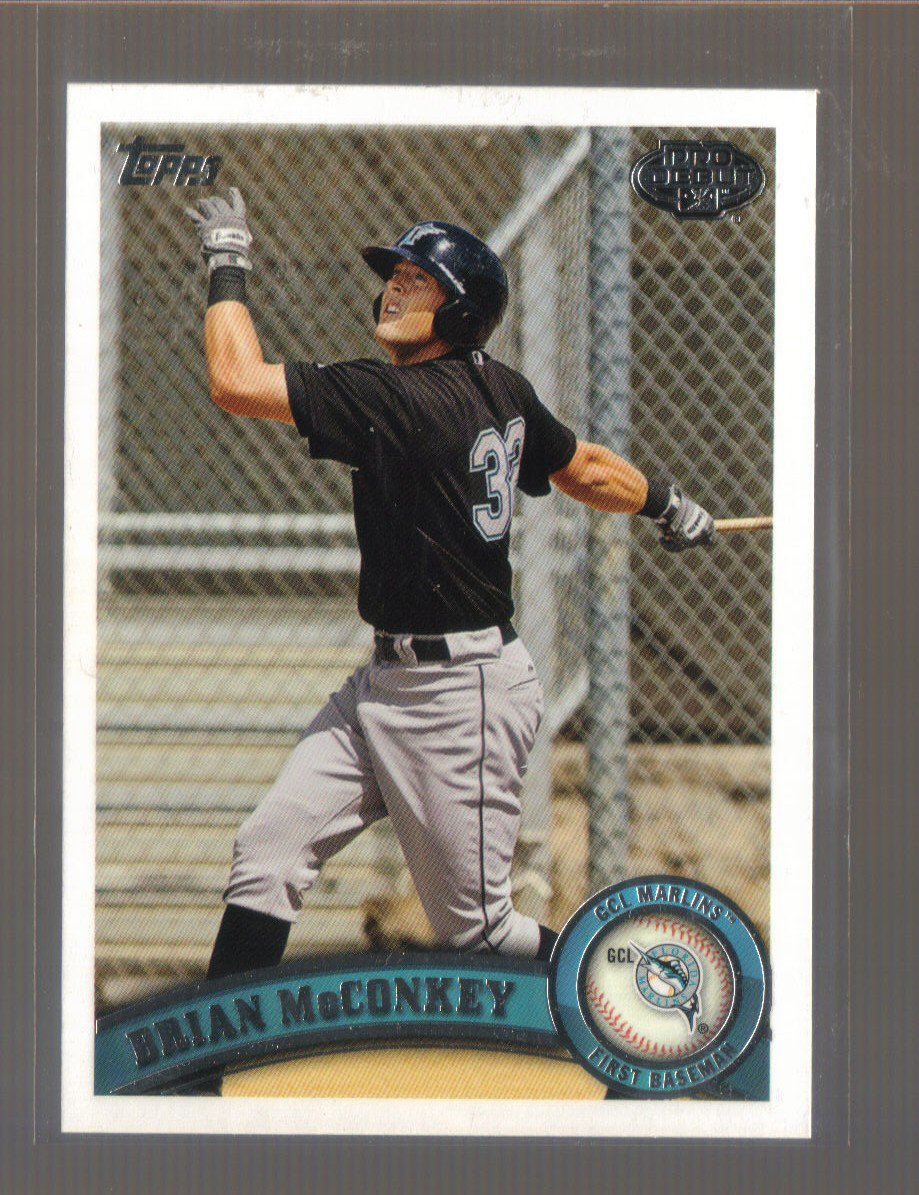 2011 Topps Pro Debut  #198  BRIAN McCONKEY   Marlins