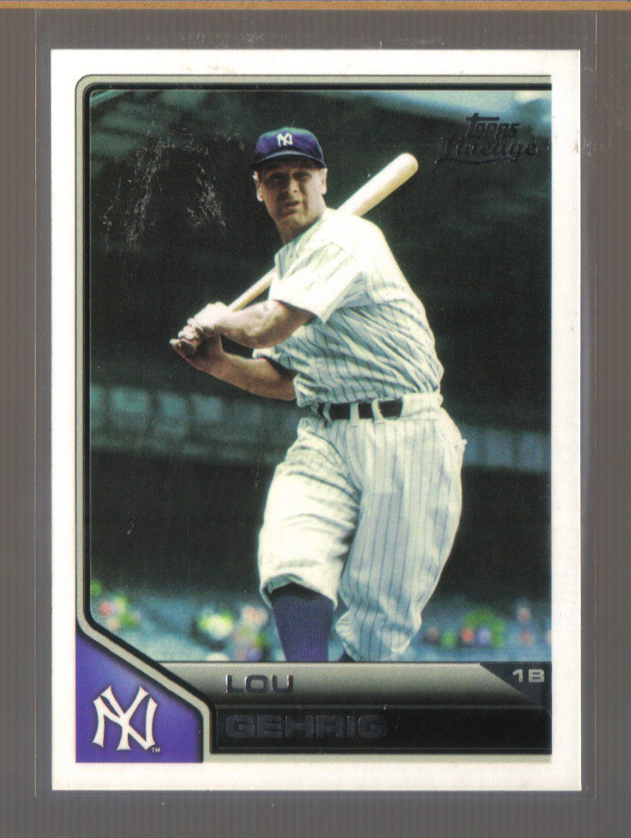 2011 Topps Lineage  #50  LOU GEHRIG   Yankees