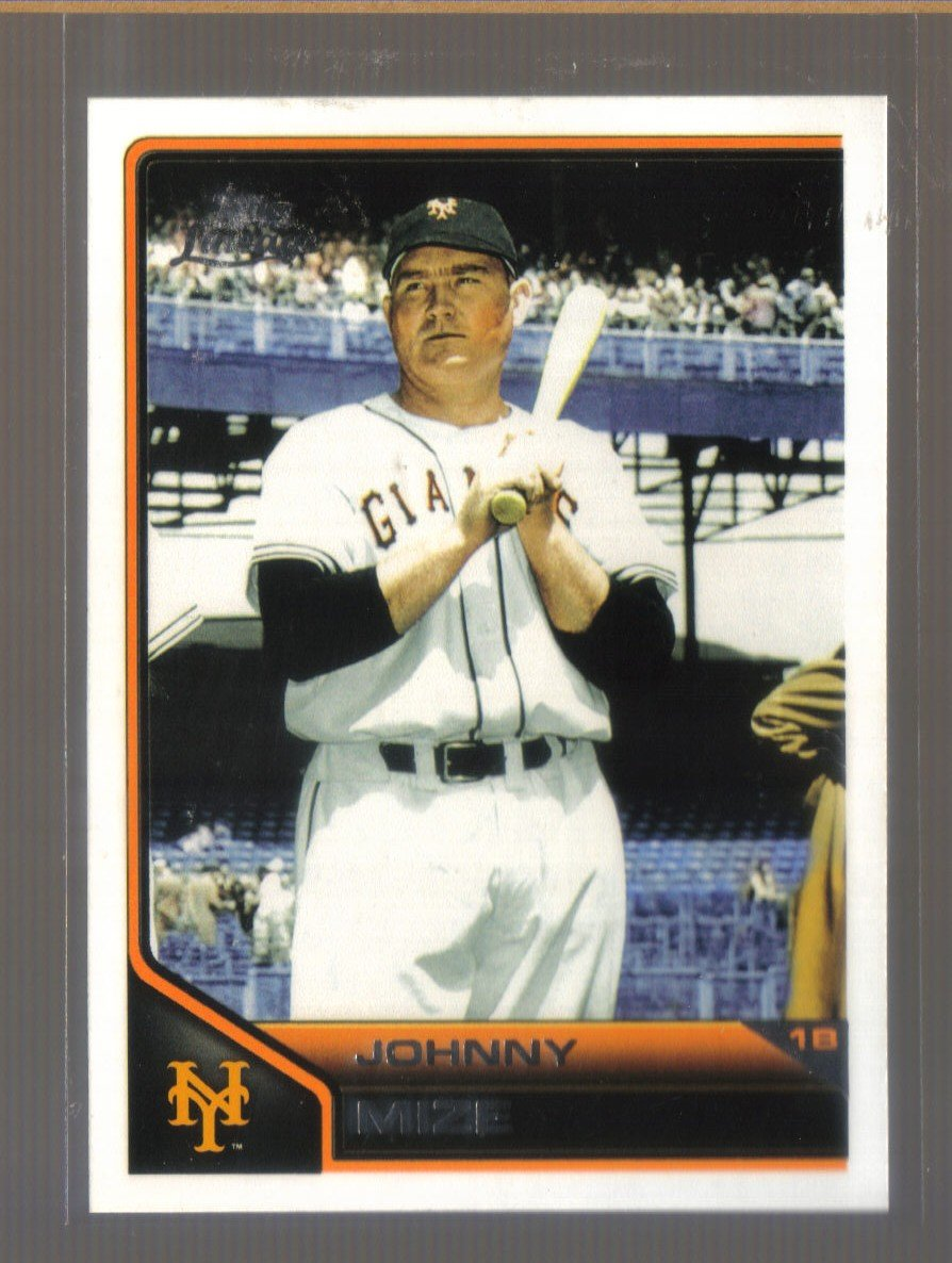 2011 Topps Lineage  #95  JOHNNY MIZE   Giants