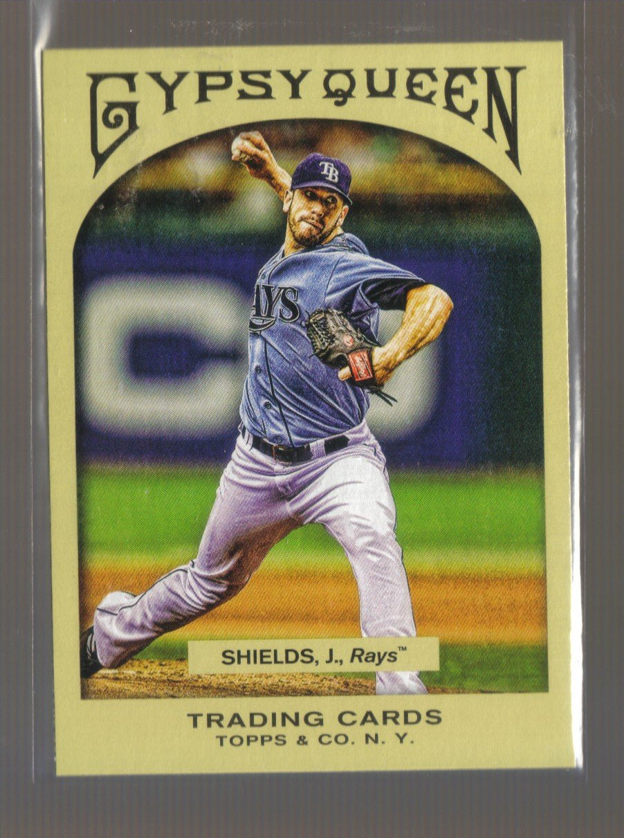 2011 Topps Gypsy Queen  #199  JAMES SHIELDS    Rays