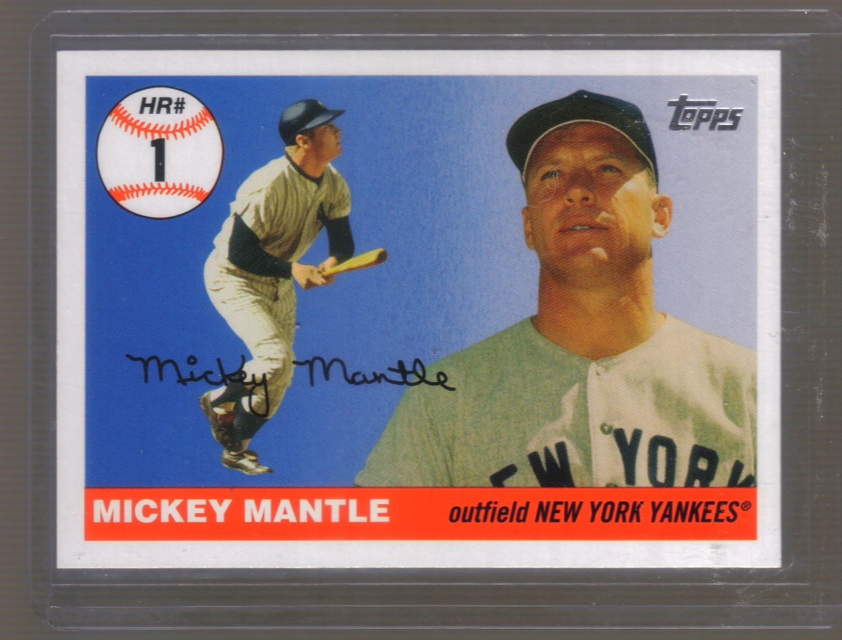 2006 Topps Mantle Home Run History  #1  MICKEY MANTLE   Yankees