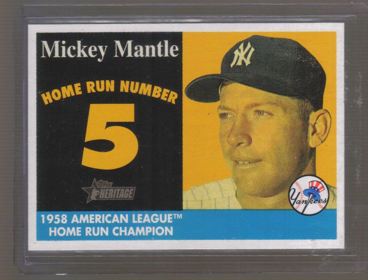 2007 Topps Heritage '58 Home Run Champion  #5  MICKEY MANTLE   Yankees