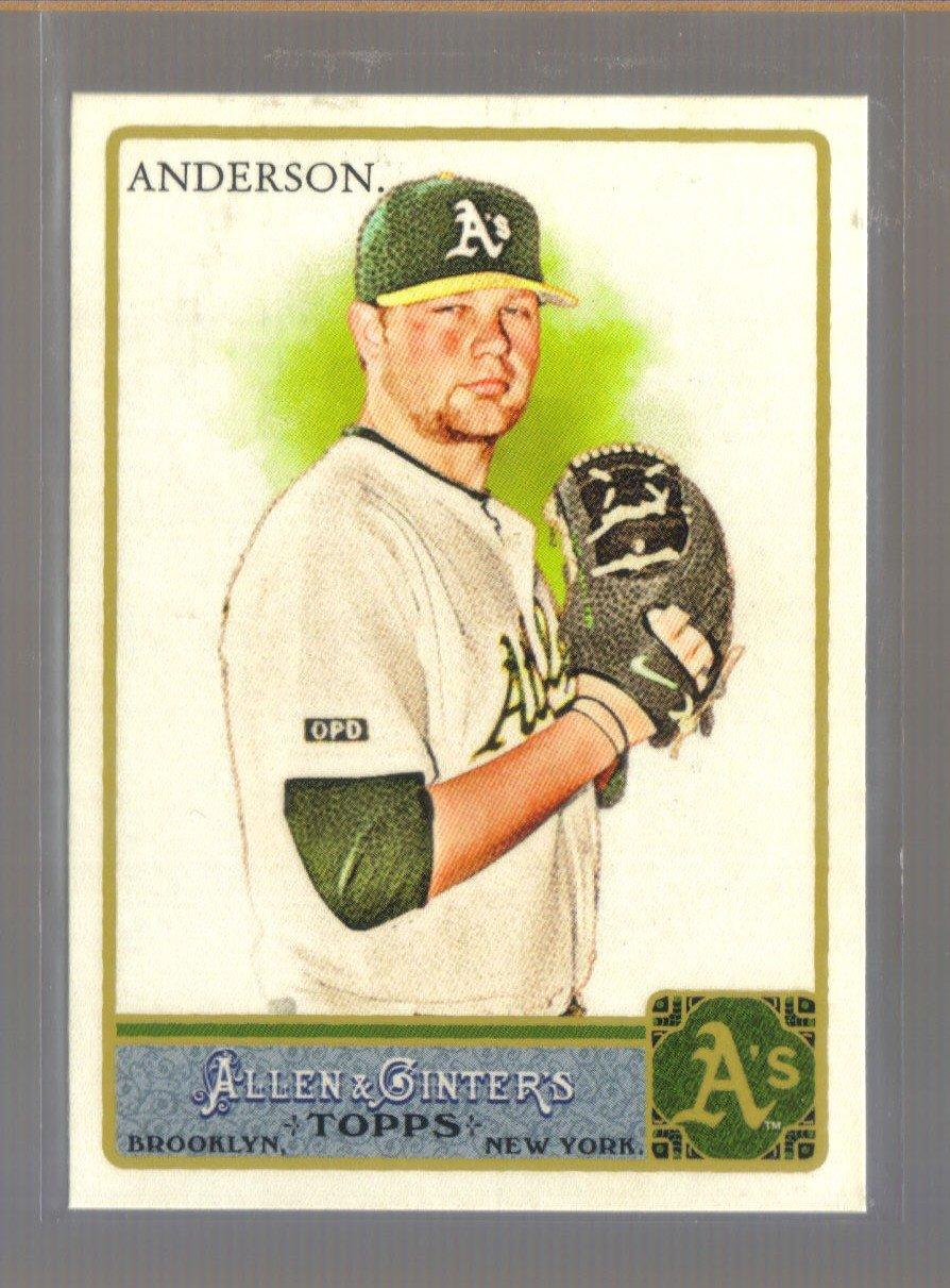 2011 Topps Allen & Ginter  #13  BRETT ANDERSON    A's