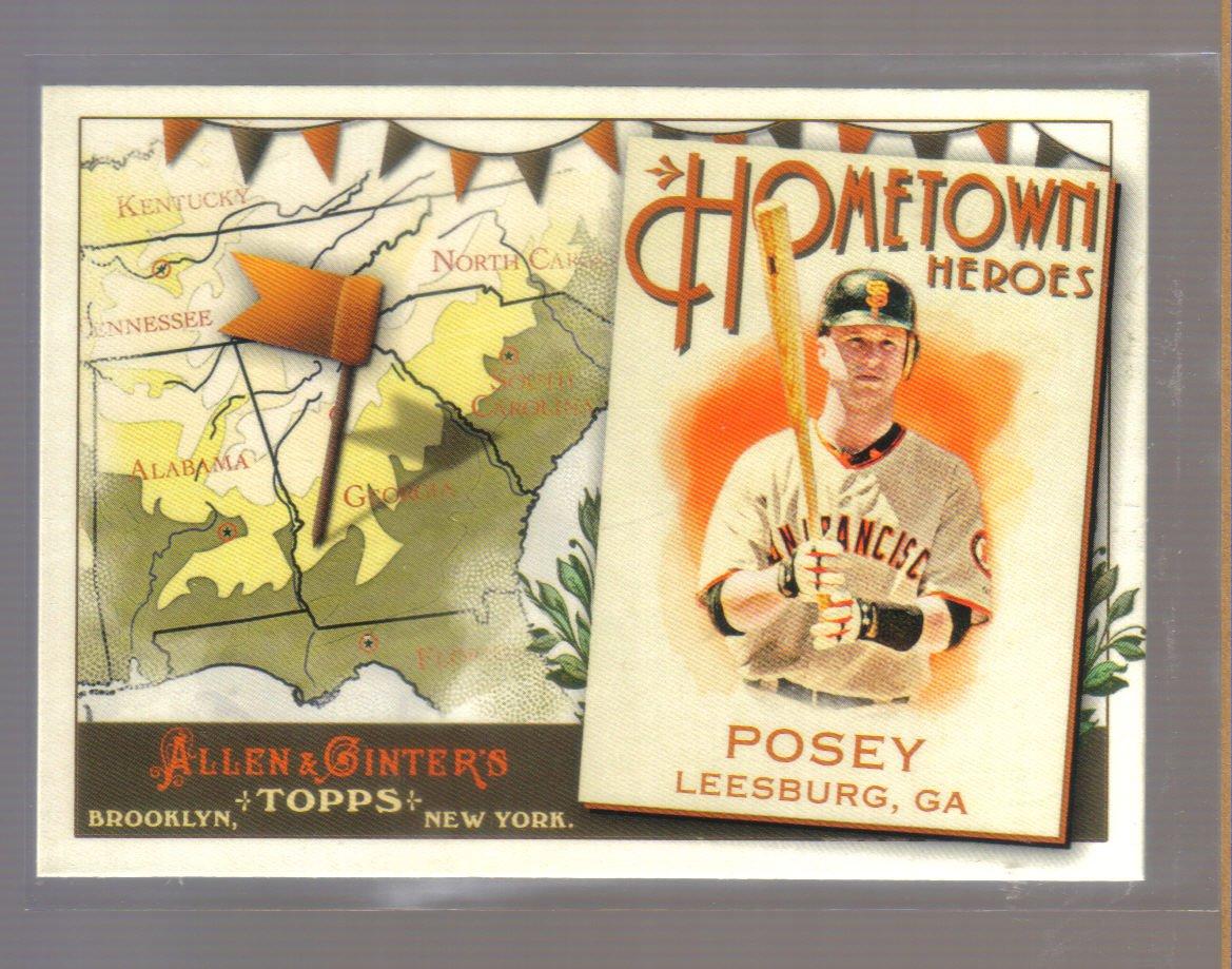 2011 Topps Allen & Ginter Hometown Heroes  #1  BUSTER POSEY   Giants