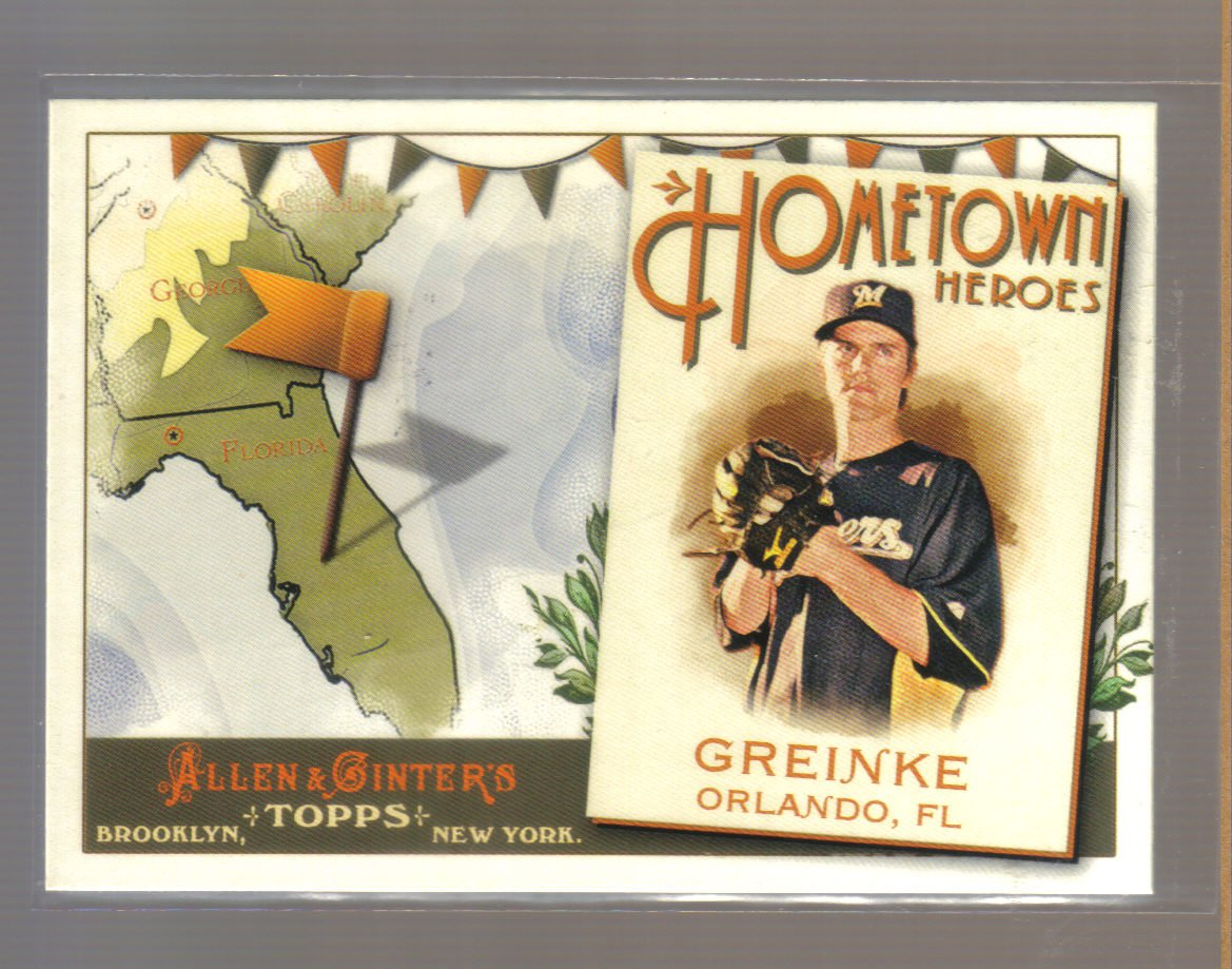 2011 Topps Allen & Ginter Hometown Heroes  #18  ZACK GREINKE   Brewers