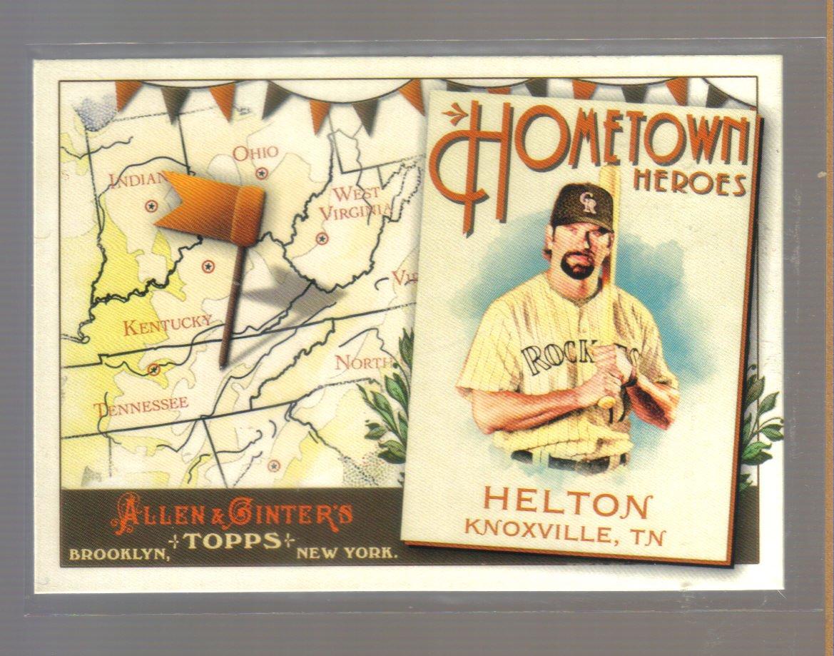 2011 Topps Allen & Ginter Hometown Heroes  #89  TODD HELTON   Rockies