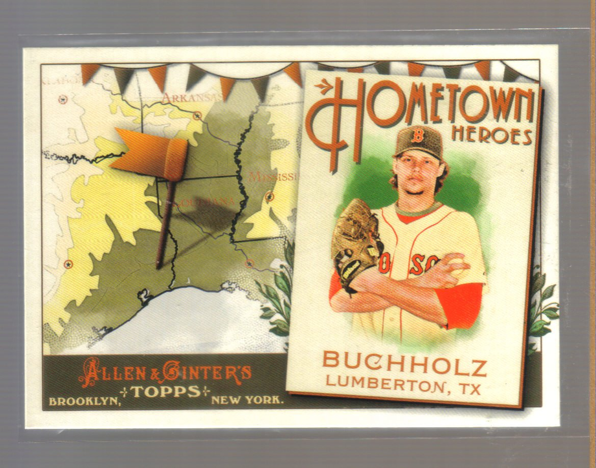 2011 Topps Allen & Ginter Hometown Heroes  #98  CLAY BUCHHOLZ   Red Sox