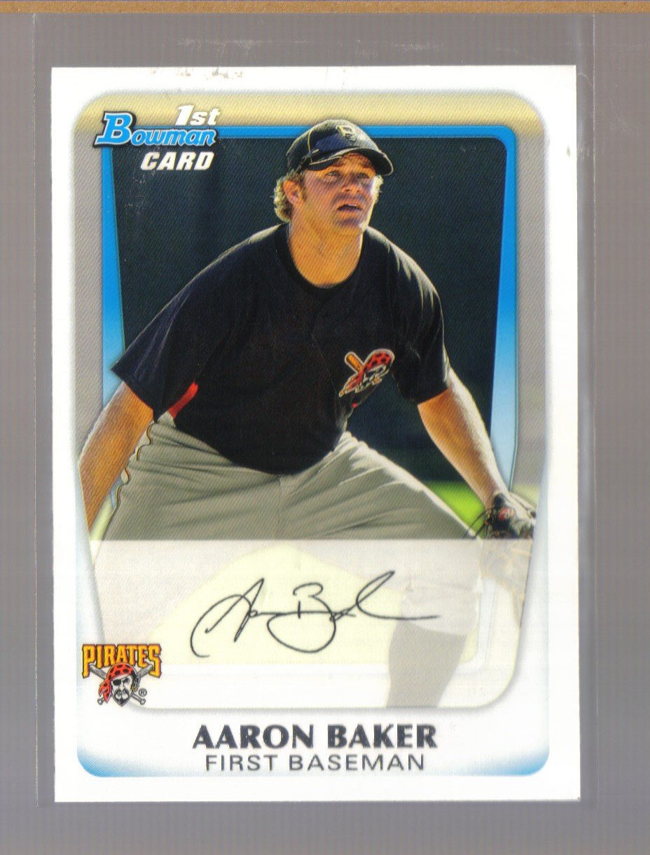 2011 Bowman Prospects  #39  AARON BAKER   Pirates