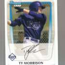 2011 Bowman Prospects  #41  TY MORRISON   Rays