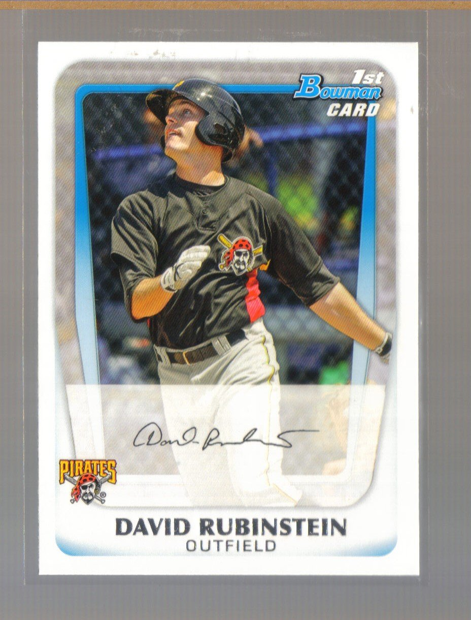 2011 Bowman Prospects  #55  DAVID RUBINSTEIN   Pirates