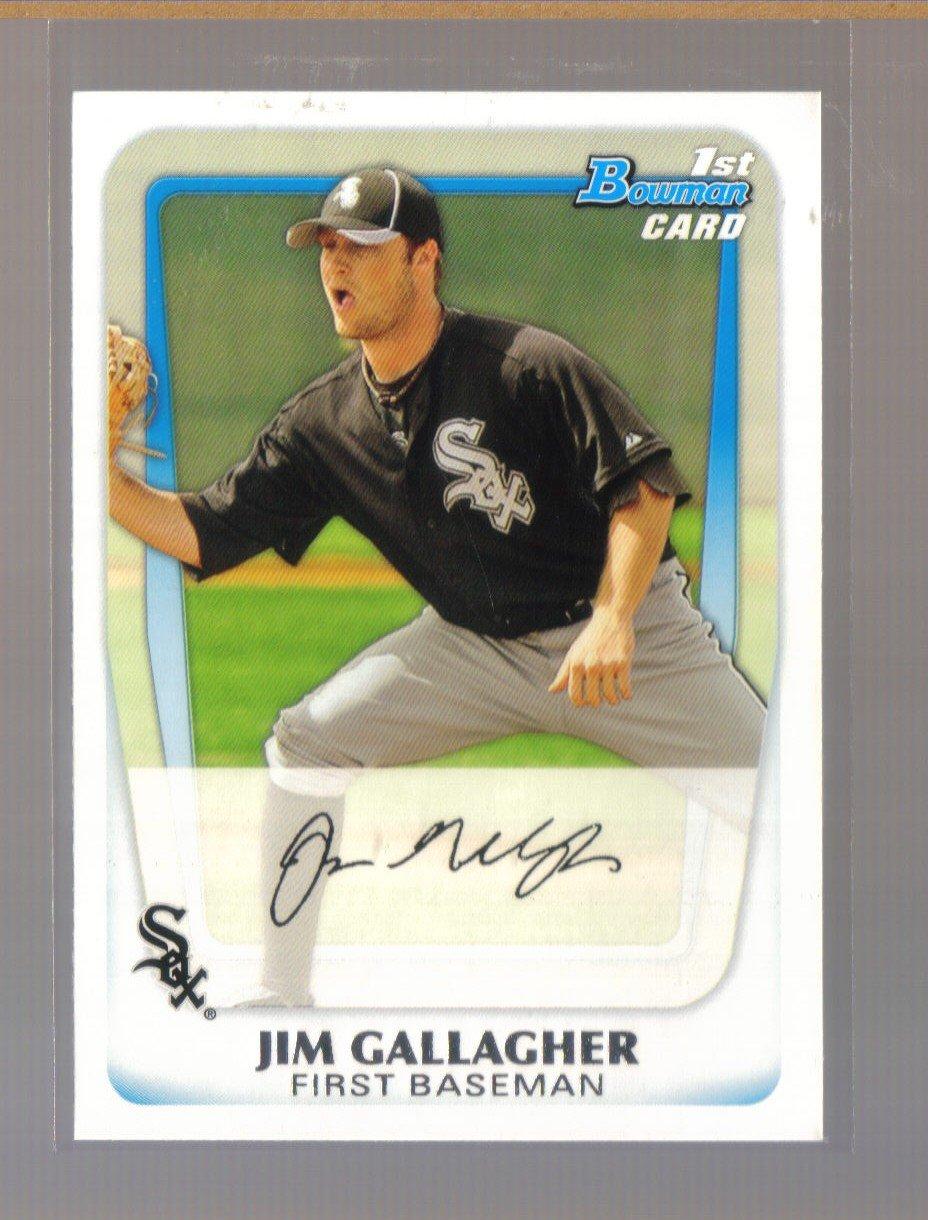 2011 Bowman Prospects  #74  JIM GALLAGHER   White Sox