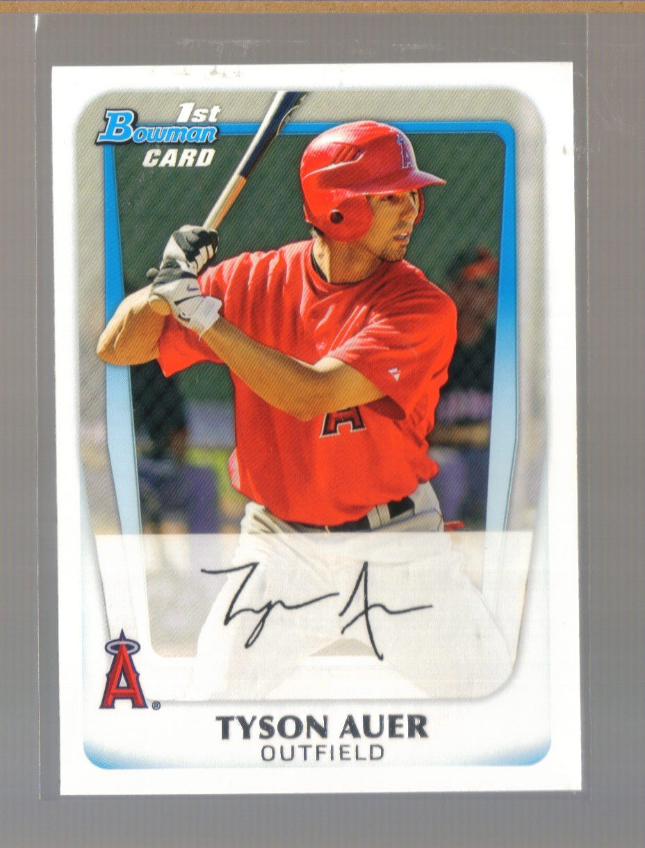 2011 Bowman Prospects  #76  TYSON AUER   Angels