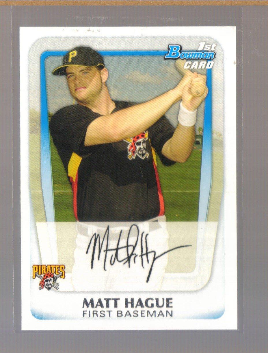 2011 Bowman Prospects  #84  MATT HAGUE   Pirates