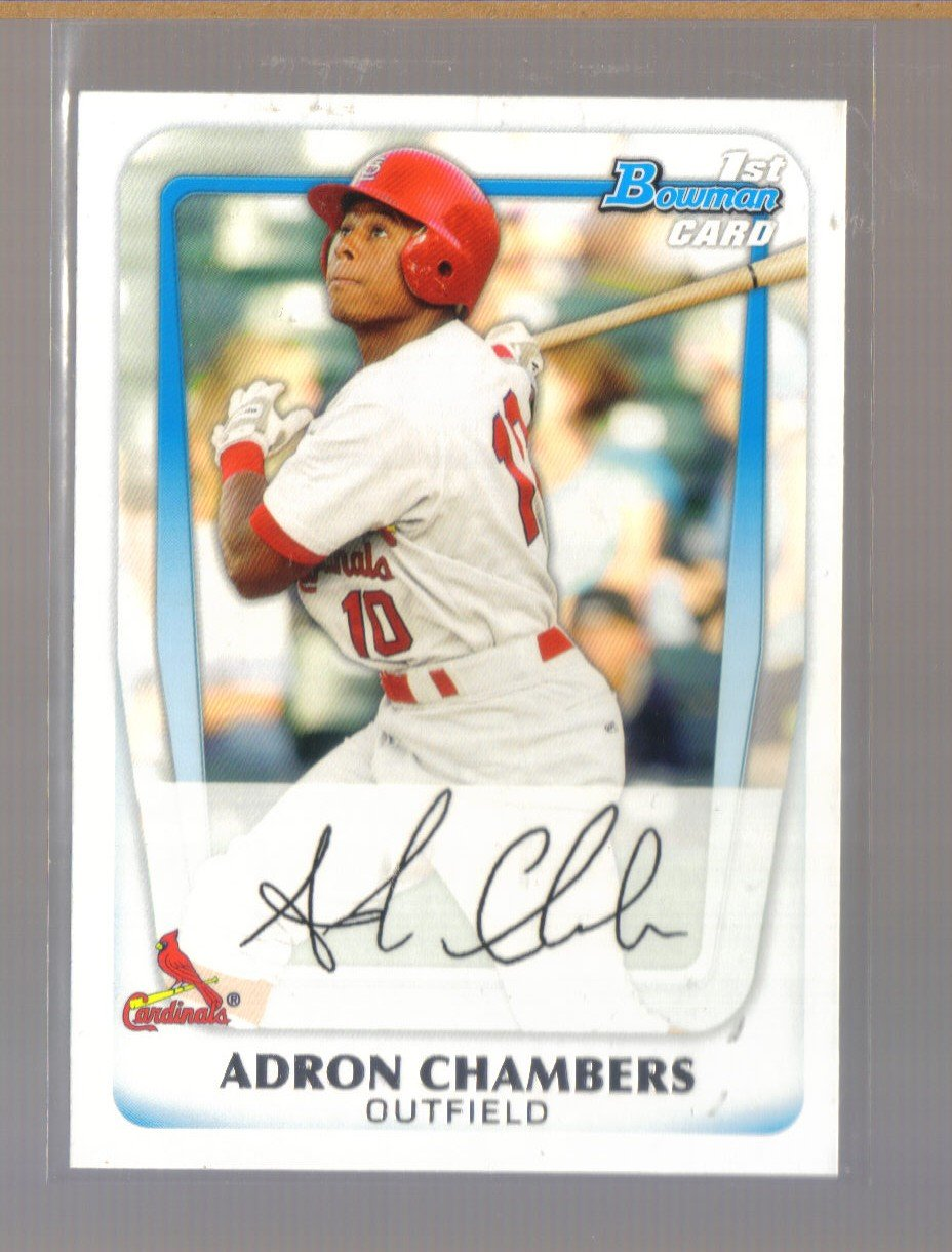 2011 Bowman Prospects  #90  ADRON CHAMBERS   Cardinals