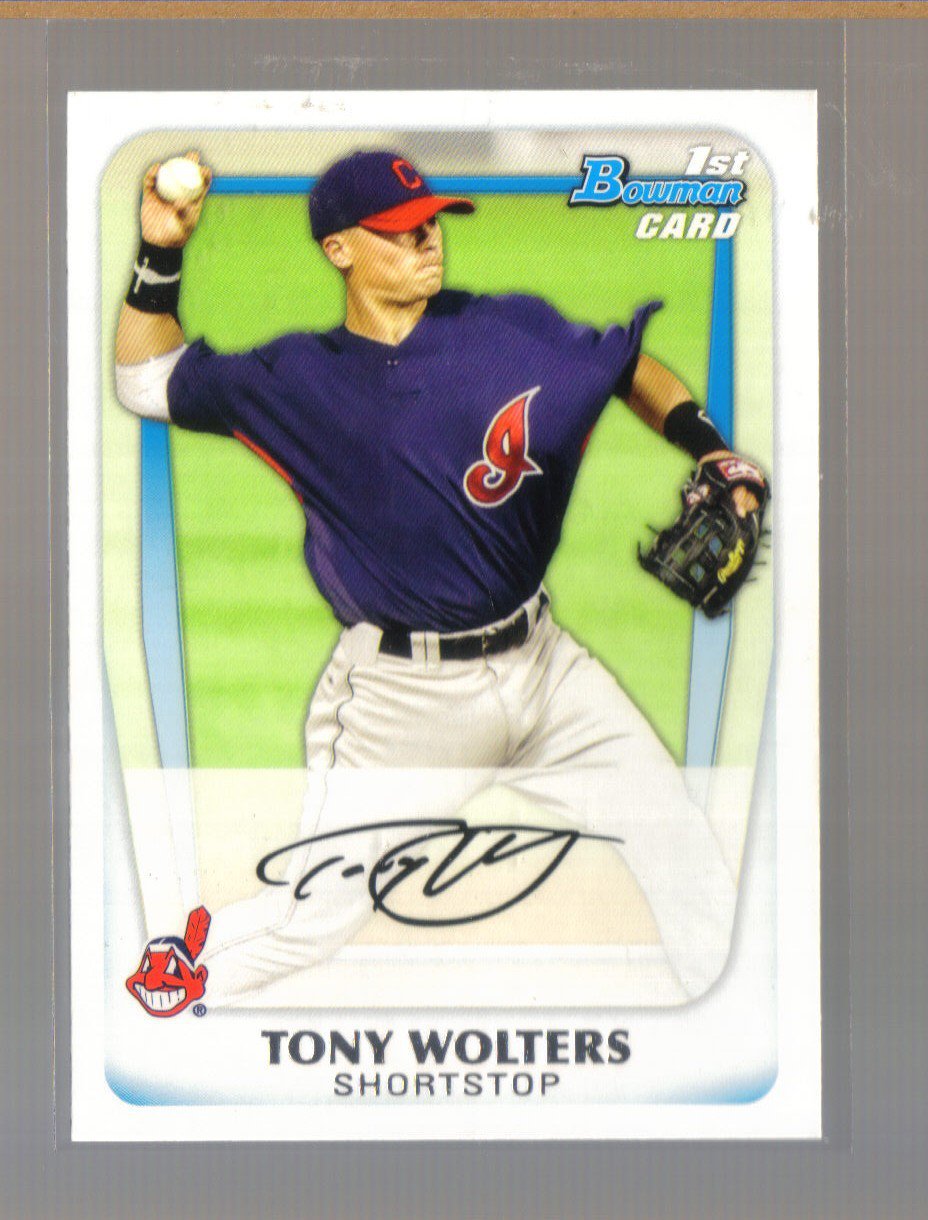 2011 Bowman Prospects  #98  TONY WOLTERS   Indians