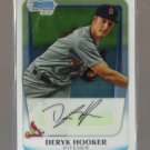 2011 Bowman Prospects Chrome  #40  DERYK HOOKER   Cardinals
