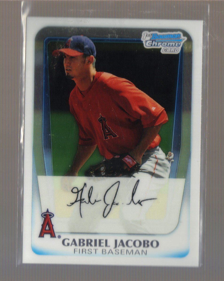 2011 Bowman Prospects Chrome  #54  GABRIEL JACOBO   Angels