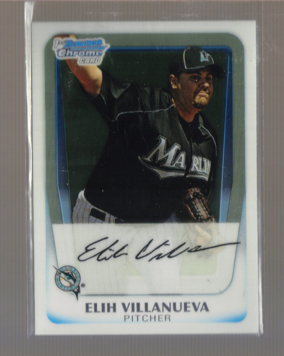 2011 Bowman Prospects Chrome  #69  ELIH VILLANUEVA   Marlins