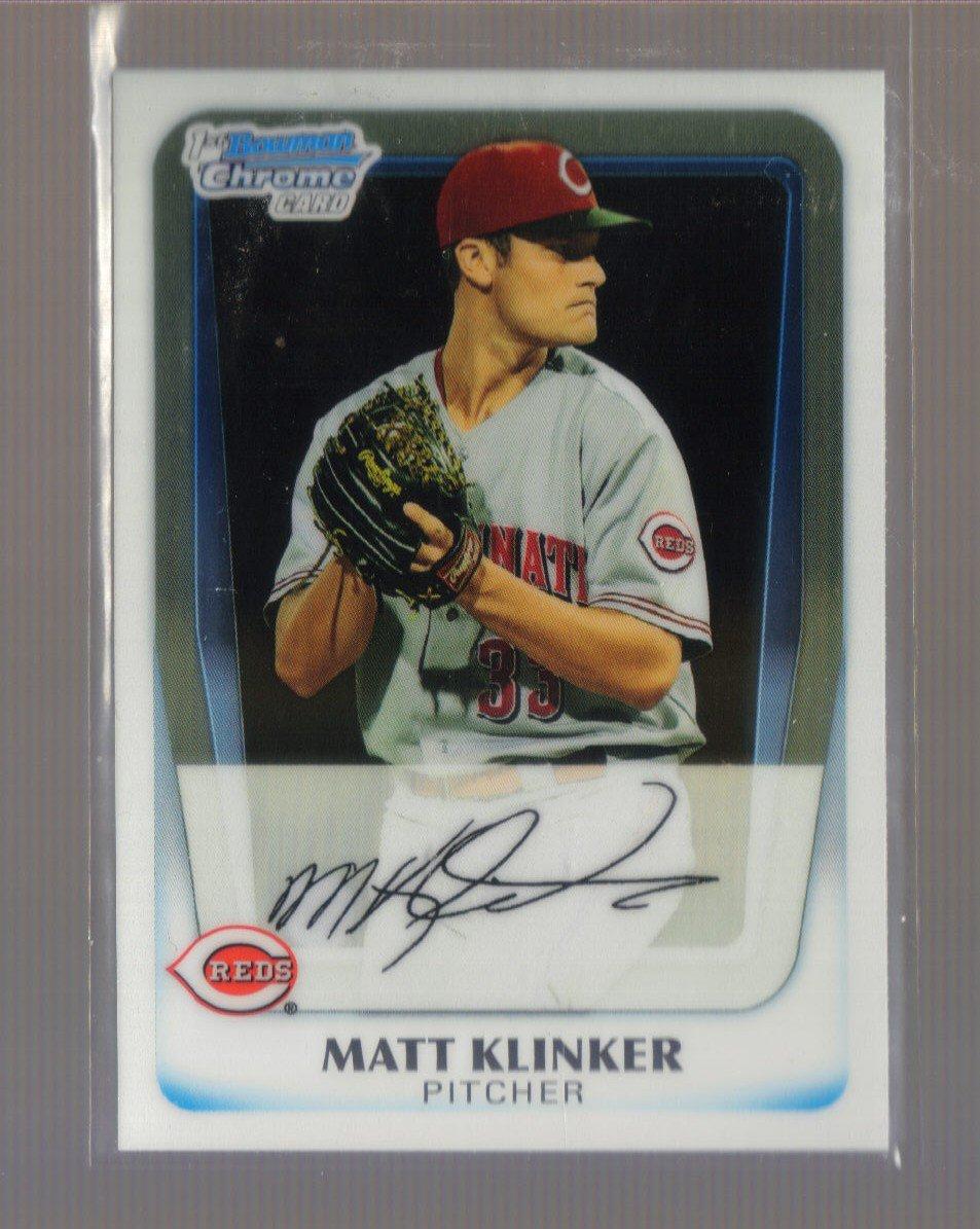 2011 Bowman Prospects Chrome  #77  MATT KLINKER   Reds