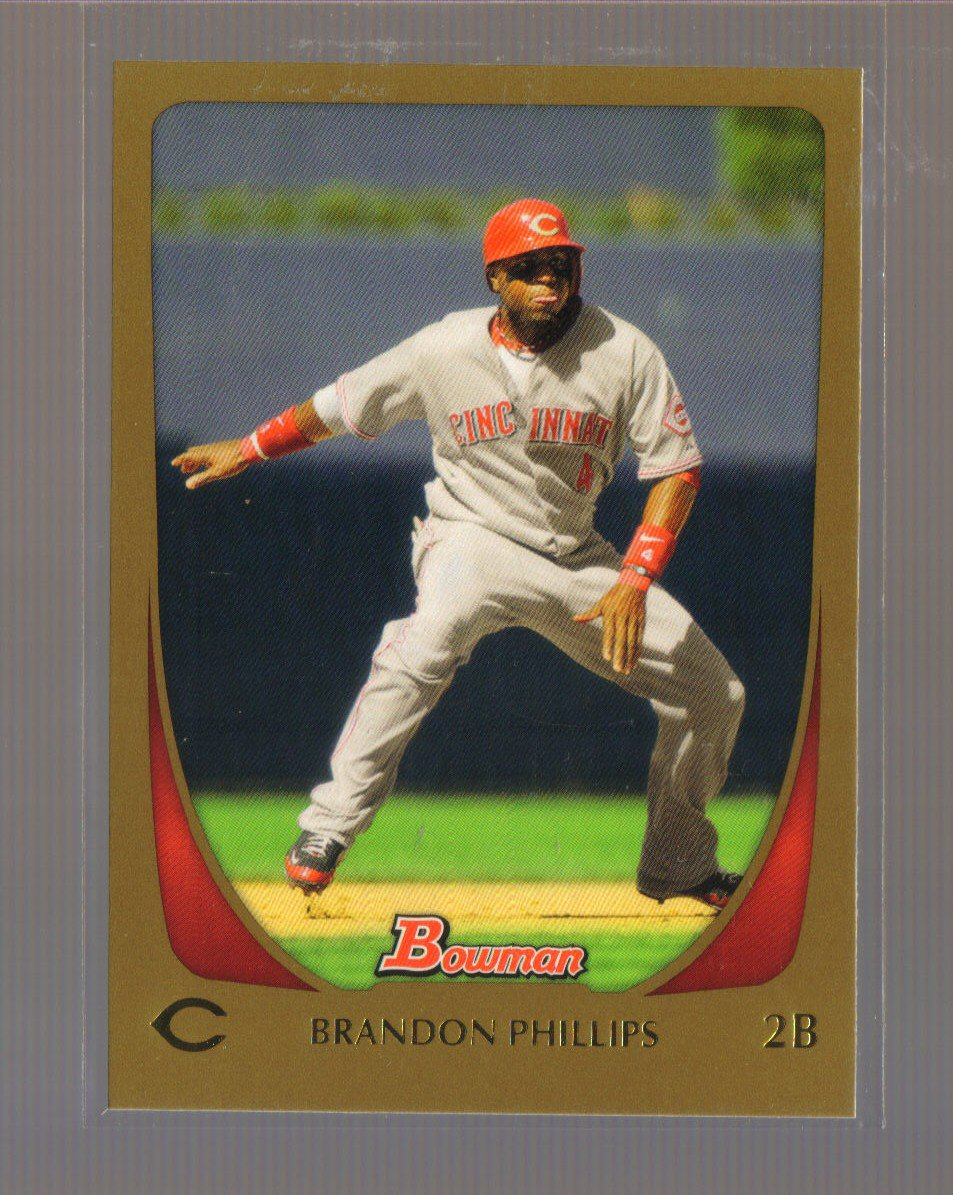 2011 Bowman Gold  #19  BRANDON PHILLIPS   Reds