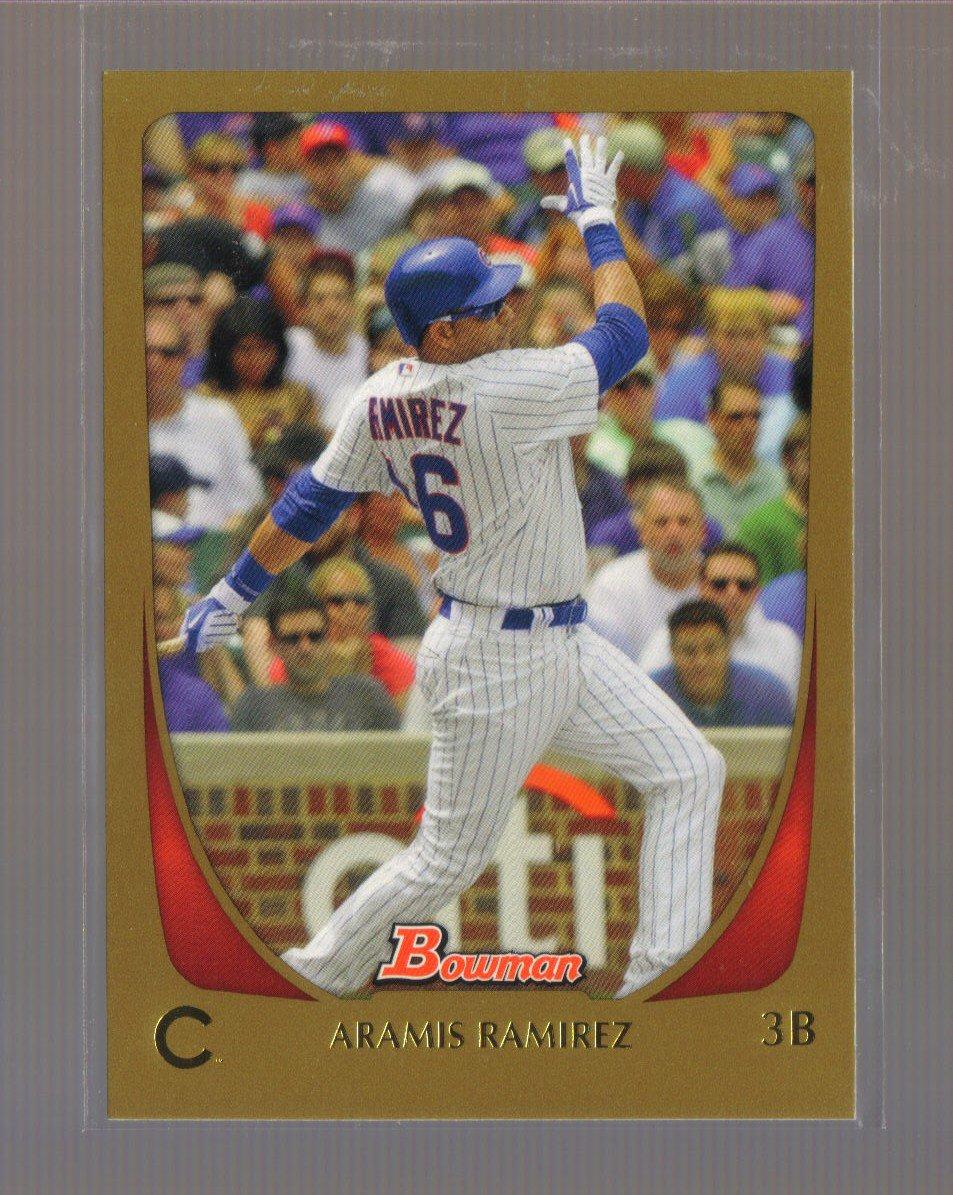 2011 Bowman Gold  #101  ARAMIS RAMIREZ   Cubs