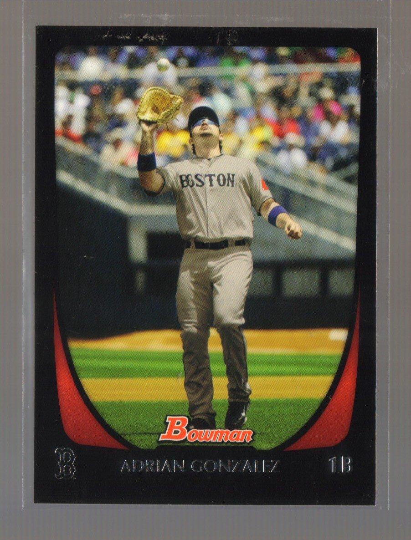 2011 Bowman  #87  ADRIAN GONZALEZ   Red Sox