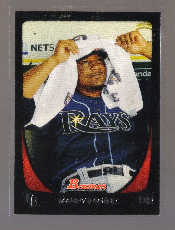 2011 Bowman  #90  MANNY RAMIREZ   Rays