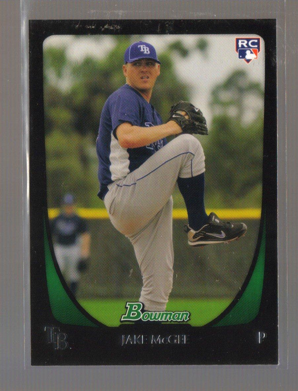 2011 Bowman  #191  JAKE McGEE   RC   Rays