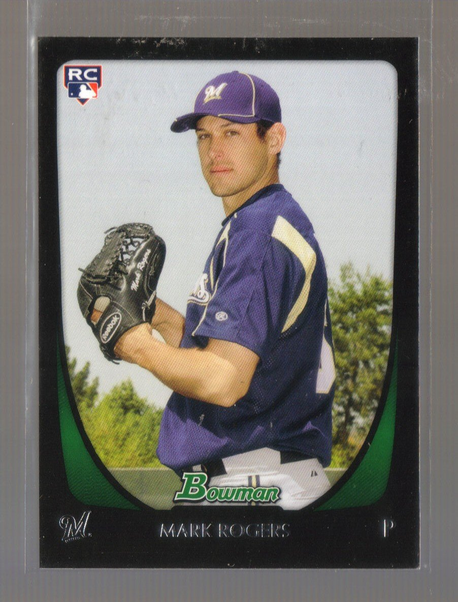 2011 Bowman  #208  MARK ROGERS   RC   Brewers