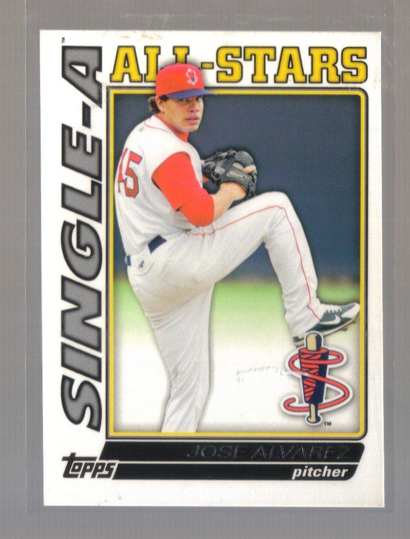 2010 Topps Pro Debut Single-A All-Stars  #15  JOSE ALVAREZ   Red Sox