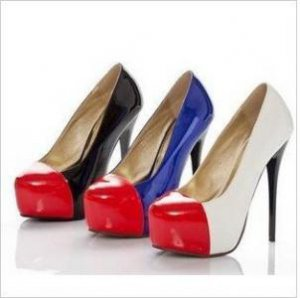 SEXY WOMEN'S SHOES, HIGH CANDY COLORS BRIGHT PATENT LEATHER