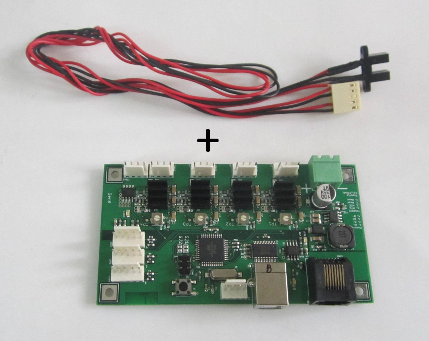 reprap Gen6 Generation 6 electronics including opto's cable