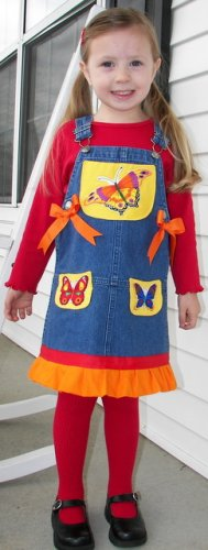 Custom Boutique Hartstrings Boutique Butterfly Dress Sz 3T