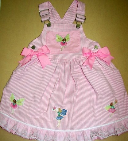 One-Of-A-Kind Custom Boutique Fairy-Themed Overalls Sz 5