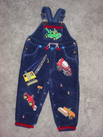 One-Of-A-Kind Construction-Themed Overalls Sz 3T