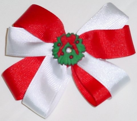 Holiday Wreath Hair Bow