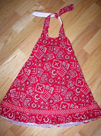 Custom Boutique Bandana Halter Dress Sz 3T