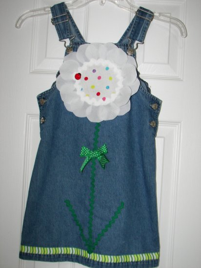Custom Boutique Flower Petal Dress 5/6
