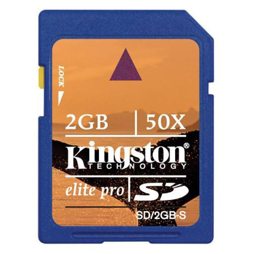 REDUCED - Kingston 2GB Elite Pro SD Card 50x - $15
