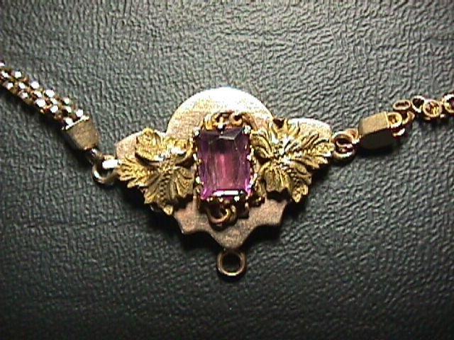 "Beautiful Victorian Ladies' 22"" Amethyst Gemstone Necklace - Estate Piece"