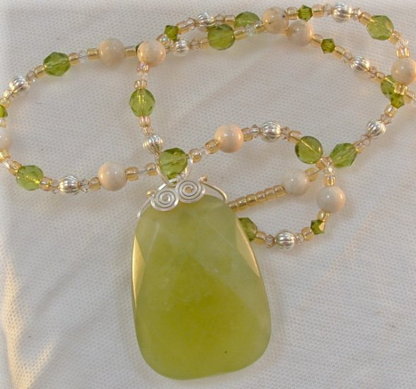 Wise Pineapple, Jade Necklace
