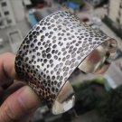 China's Tibet silver leopard ZiWen braceletsSilvery white  M02