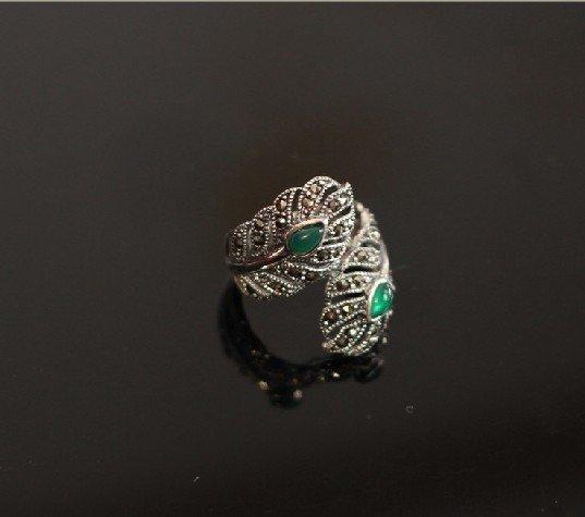 The silver mark sunriser adorn article green agate rings