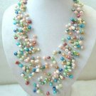 The more noble generous color natural pearl necklace (A20)