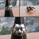 Charming Tibet silver tiger male ring (A39)