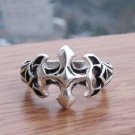 Beautiful Tibetan silver cross ring  (A40)
