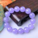Beautiful and charming purple jade bracelet beads hand bead