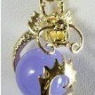 Manual sculpture beautiful natural purple jade necklace pendant (B128)