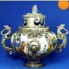 China's manual sculpture porcelain making kirin censer